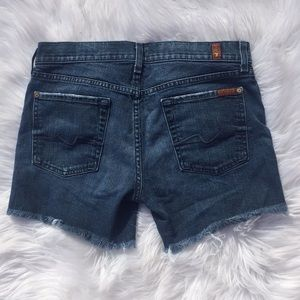 Seven for All Mankind Jean Cutoff Shorts | 28